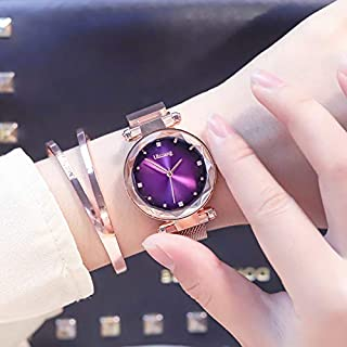 Romote 1Pc Viola Forza Magnetica UniqueBand Donne Quarzo Orologi da Polso Ladies Dress Rapporto di Guardia & Bracelet