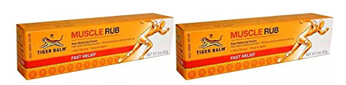 Tiger Balm Muscle Rub Pain Relieving Cream (Pack of 2) with Menthol and Camphor, Fast-Acting, Safe and Effective, for Muscle Aches, Strains, and Pains, 2 oz
