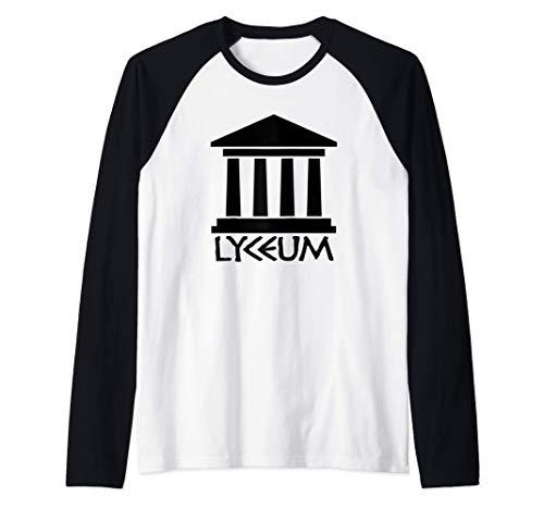 Lyceum - Escuela Aristóteles Antigua Grecia Filosofía Griega Camiseta Manga Raglan