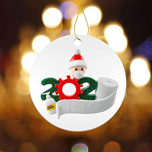 Personalized Christmas Tree Decoration Indoor Outdoor Pendant Holiday Lighted Faceless Old Man Pendant Merry Christmas Ornament Kit for New Year Gift Creative Gift Wearing Mask Ornaments 2PCS (A)