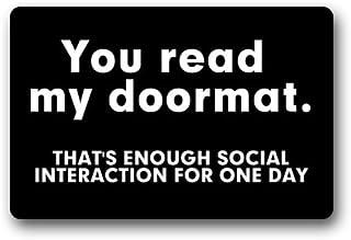 Best Non-Slip Entryways Funny Saying Quotes Doormat, You Read My Doormat, That