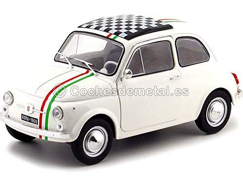 Solido, modellino Fiat 500 1968, scala 1:18, colore bianco, codice prodotto S1801403