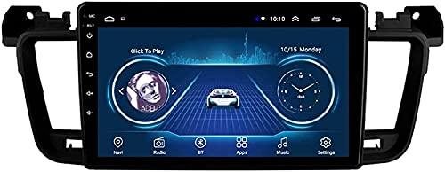 Android 10 GPS Navegación para Peugeot 508 2011-2018 Coche 9 Pulgadas Autoradio Radio Car Stereo Car Multimedia Radio,WiFi: 1+16G