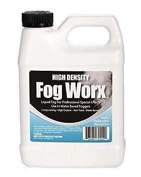 FogWorx Extreme High Density Fog Juice - Long Lasting High Output Odorless Water Based Fog Machine Fluid - 1 Quart 32 ounces for 400 Watt to 1500 Watt Machines