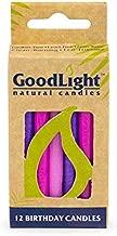 GoodLight Paraffin-Free Vegan Birthday Candles, Pink & Purple