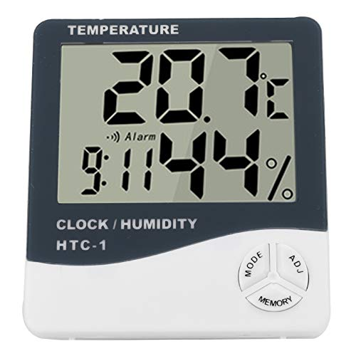 Kadimendium Monitor de Temperatura Digital, indicador de Temperatura Pantalla de Alta definición Estable Sensor de Temperatura Higrómetro Digital Diseño Inteligente y Saludable para el hogar