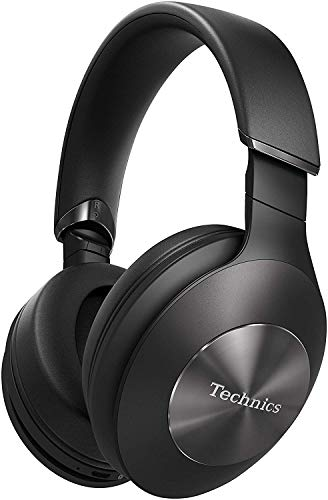 Technics EAH-F70N Cuffie a Padiglione Bluetooth Noise Cancelling Premium, Hi-Res Audio, Cancellazione del Rumore, Funzionamento Smart, Assistente Vocale, Pieghevoli, Nero