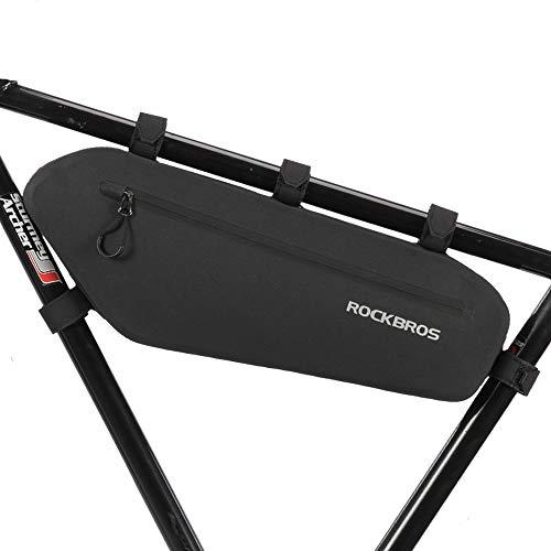 ROCKBROS自転車 バッグ フレームバッグトップチューブバッグ ロードバイク 大容量4L 防水 通勤用 サイクルアクセサリー 出し入れ便利 安定感