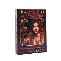 Heal Yourself Reading Cards EGuideブック付きの完全英語版のタロットデッキEinstructionカードゲーム占いゲームは運命予測カードゲームを設定します