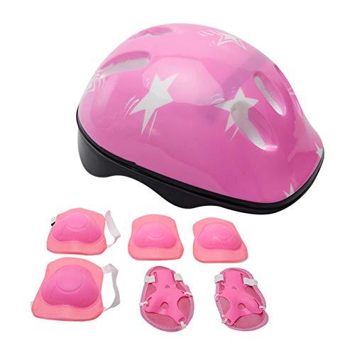 JJSCHMRC Casco de bicicleta para niños, casco para niños de 3 a 14 años con equipo de protección deportiva, rodilleras, coderas, muñequeras para monopatín, patinaje, ciclismo, scooter
