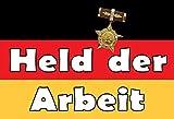 NWFS Nostalgie DDR Held der Arbeit Blechschild Metallschild Schild Metal Tin Sign gewölbt lackiert 20 x 30 cm