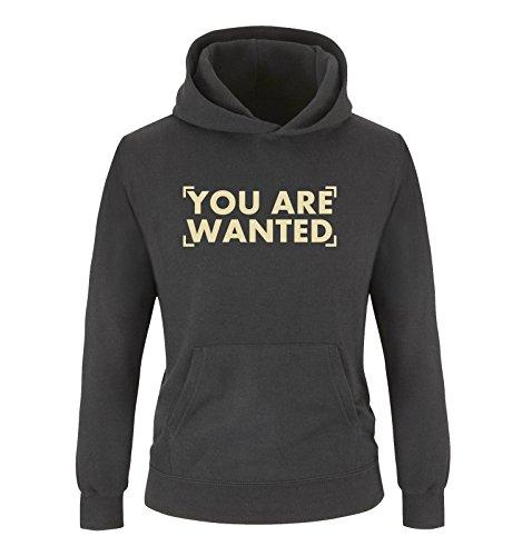 Comedy-Shirts - Sweat-shirt à capuche - Manches Longues - Fille - noir - Large