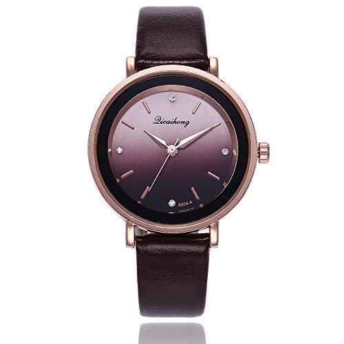 Darringls_Reloj qicaihong,Reloj de Cuarzo de aleación analógico Casual para Mujer Hombre Unisex Retro Relojes para Unisex Reloj de Pulsera Elegante