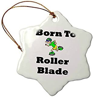 Christmas Ornaments Image Of Cartoon Born To Roller Blade With Skater Holiday Xmas Tree Hanging Ornaments Decoration gift