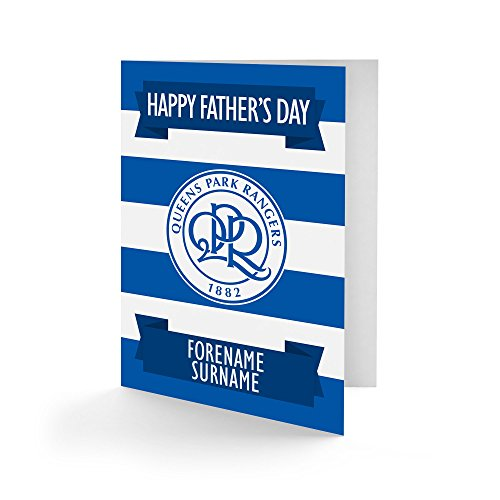 Official Personalised Queens Park Rangers FC Crest Father's Day Card A5