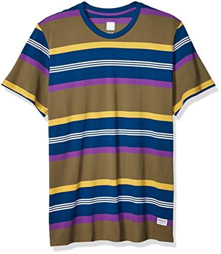 adidas Originals Men's Grover Shirt, raw khaki/legend marine/active purple/Pyrite, Medium