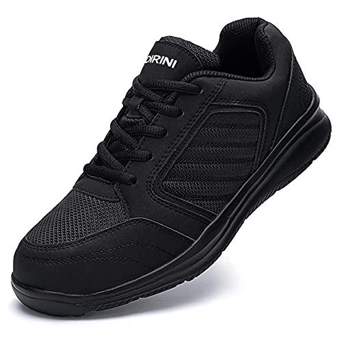 Ziboyue Zapatos de Seguridad Hombre Mujer Impermeable Calzado de Trabajo con Punta de Acero Ligeros Transpirable Zapatillas de Seguridad (Negro clásico,44 EU)