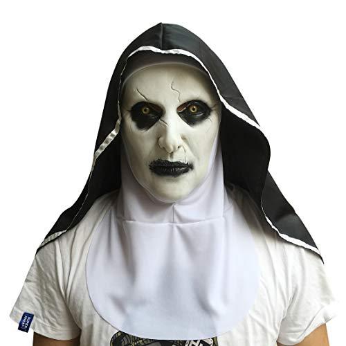 HJF Nun masker, Halloween horror rekwisieten, Dance party bar party jurk speelt een masker