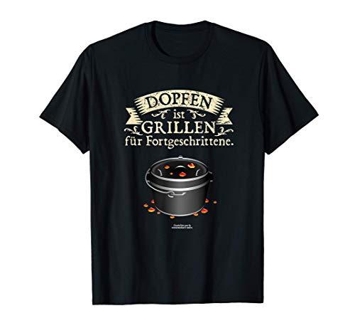 Dutch Oven Design Dopfen vs. Grillen - cooles Dutch Oven T-Shirt