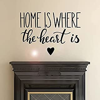 Inspiring Wall Decal Home Page is The Place of The Heart Vinyl Sticker Artist Home Decoration