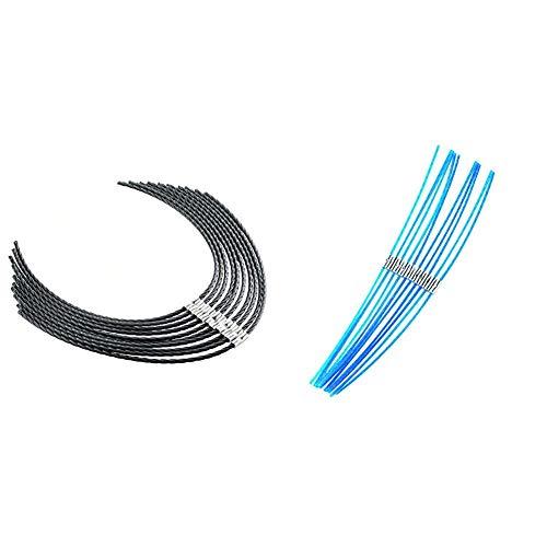 Bosch Home and Garden F016800431 Hilo cortabordes para AFS 23-37 + Home and Garden F016800182 Bosch Hilo para ART30 Combitrim, Azul, 30cm