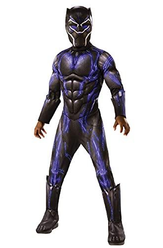 Rubie's Child's Marvel: Avengers Endgame Deluxe Black Panther Battle Costume & Mask, Purple, Small