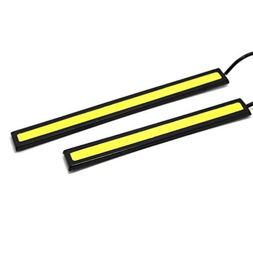 Aiglen LED Streifen 4 STK. 17cm LED COB Tagfahrlicht Wasserdicht DC12V Autolichtquelle Park Nebelscheinwerfer Lampenleiste (Color : Cold White)