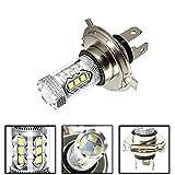 Luces led para Autos H4 H7 LED 80W 6000K Super Brillante Blanco 12V LED Luces de Niebla Linterna de la Bombilla for el Coche Luces led para Coches (Emitting Color : White, Socket Type : H7)