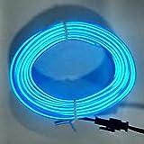 Ba30DEllylelly Tira de luz Interior de Coche de 3M 12V LED Luces frías Cable de neón Flexible Luces automáticas Línea de Tira Decoración de Interiores Tiras Lámpara