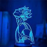 Haikyuu - Lámpara de ilusión 3D, luz nocturna de LED, diseño de anime, cambia de color, lámpara de mesa para la decoración doméstica, mejor regalo de fiesta de cumpleaños para los niños
