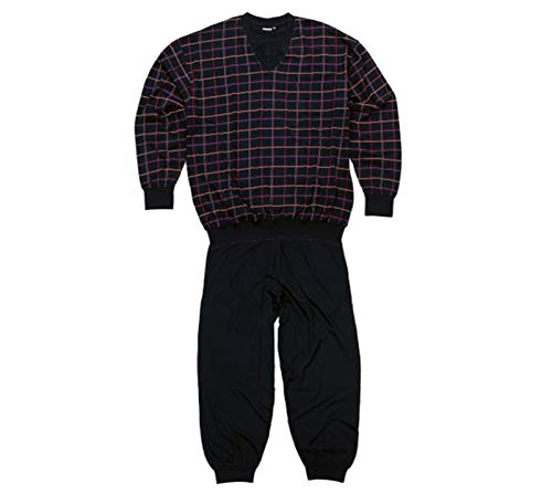 ADAMO Schlafanzug Langarm - 2 teilig - in dunkelblau - größe Größen - bis 10XL Donald (70/72-6XL, Dunkelblau)