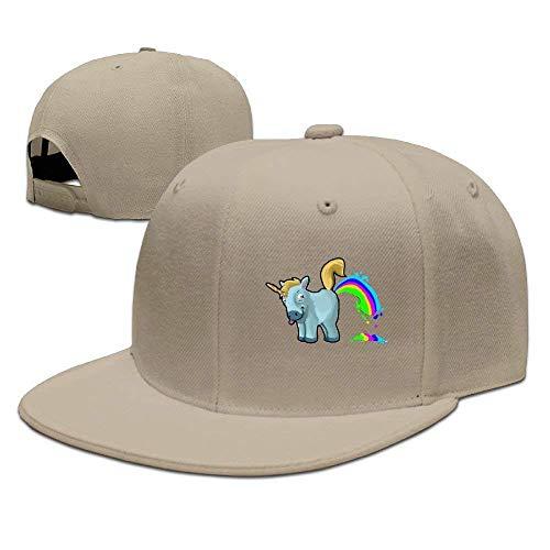 Mens Personalized Snapback Hats Baseball Caps Unicorn Rainbows Fart/Unicorn Farting Rainbow Low Profile Hat,Unisex