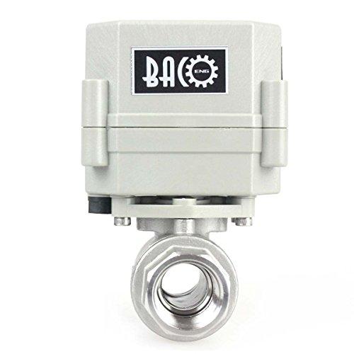 BACOENG 1/2' DN15 acciaio inossidabile BSP 2 porte motorizzato valvola a sfera (AC110-230V CR202C 2 fili normalmente aperto valvola a sfera elettrica)