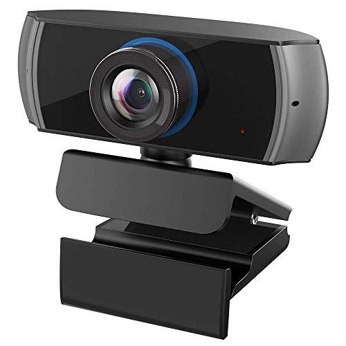 Webcam Full HD 1080P / 1536P Computer Kamera Breitbild Videotelefonie und Aufzeichnung, Digitale Webcam mit Mikrofon, Streaming Kamera für Kompatibel mit Windows, Mac und Android