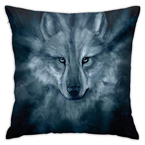 Throw Pillow Cover Cushion Cover Pillow Cases Decorative Linen Wolf for Home Bed Decor Pillowcase,45x45CM