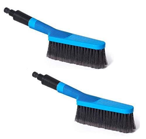 2 Stück Waschbürste mit Wasserdurchlauf und Absperrfunktion Auto Autobürste Felgenbürste Autowaschbürste Handwaschbürste Bürste Handwäsche