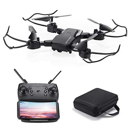 Powerextra Mini Drone con Videocamera per Bambini e Adulti - Giroscopio a 6 Assi Quadricottero RC con Telecomando WiFi HD Camera FPV 2.4GHz 3D Flip e Funzione Spin ad Alta velocità - Drone Gift