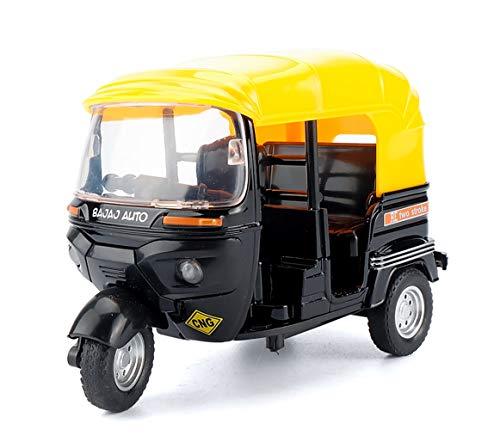 HorBous Tire hacia Atrás el Coche de Juguetes Pull Back Car Miniature Tuk Tuk Modelo 1:32 para Niños de 3 años en adelante (Negro)