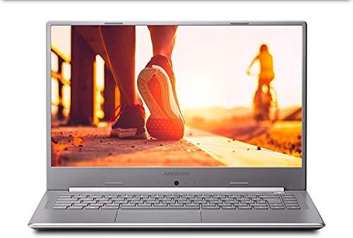 "Medion Akoya S6445 - Portátil ultrafino 15.6"" FullHD (Intel Core i5-8265U, 8GB RAM, 512GB SSD, Intel HD Graphics, Windows 10 Home) color plateado - Teclado QWERTY Español"