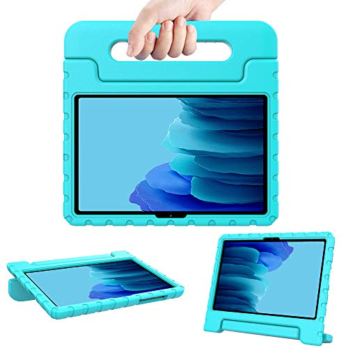 Surom Kids Case for Samsung Galaxy Tab A7 10.4' 2020 (Model SM-T500/T505/T507), Shockproof Lightweight Convertible Handle Stand Protective Kids Case for Tab A7 10.4 Inch 2020 - Turquoise