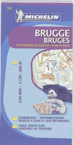 Stadtplan Brügge widerstandsfähig (Michelin Localkarte)