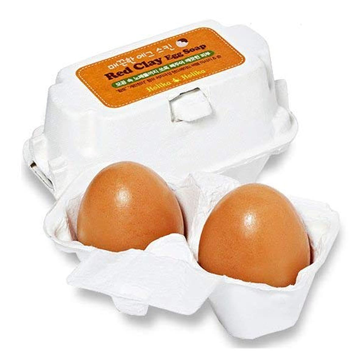 リスガレージリス[黄土/Red Clay] Holika Holika Egg Skin Egg Soap ホリカホリカ エッグスキン エッグソープ (50g*2個) [並行輸入品]