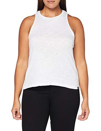 Superdry Lily Crochet Insert Vest Camiseta de Tirantes, Blanco (White 04c), M (Talla del Fabricante:12) para Mujer