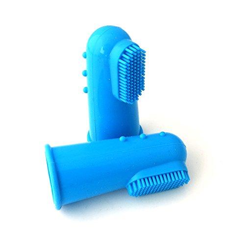 oobest tandenborstel, niet giftig, voor huisdieren, siliconen, vingers, huisdieren, Blauw