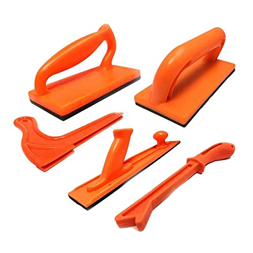Noblik Woodworking Tools 5 Pcs Plastic Table Saw Pusher Push Block and Stick Package -Orange