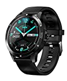Bluetooth Smart Watch Touch Screen Unlocked Cell Phone Watch Sports Smart Wrist Watch Smart Watches for Android Phone Men Women (Black)