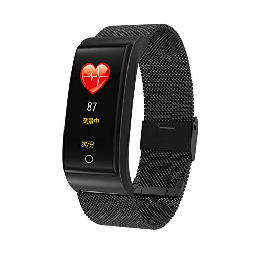 Pulsera Inteligente De Los Hombres F4, Monitor De Ritmo Cardíaco De La Presión Arterial De La Pulsera, Pulsera del Podómetro del Reloj De Fitness De Las Mujeres,C