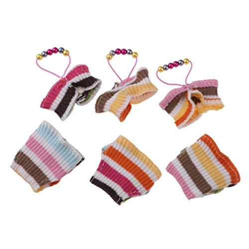 Fenteer 3 Sets Mode Sommer Strand Neckholder Bikini Badeanzug Outfiit aus Wolle für 1/6 Monster High-Puppen Zubehör