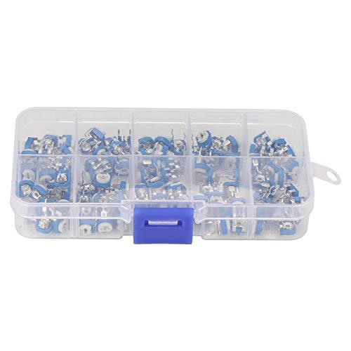 Resistencia variable, con caja de ajuste horizontal de 10 valores, potenciómetro de ajuste, para componente electrónico RM065 100 piezas