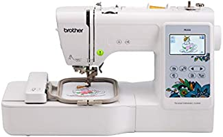 "Brother PE535 Embroidery Machine, 80 Built-in Designs, 4"" x 4"" Hoop Area, Large 3.2"" LCD Touchscreen, USB Port, 9 Font..."